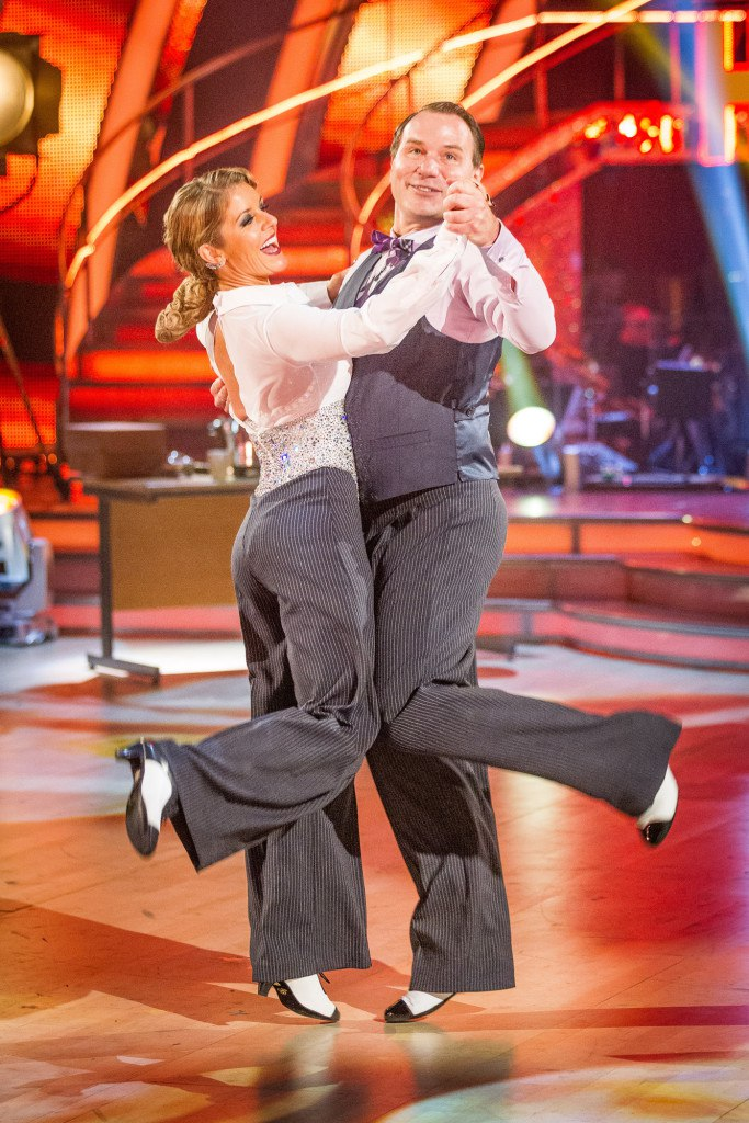 Programme Name: Strictly Come Dancing - TX: 20/10/2012 - Episode: Episode 4 (No. Episode 4) - Embargoed for publication until: 20/10/2012 - Picture Shows: **DRESS REHEARSAL** Strictly embargoed for publication until 20.30 on Saturday 20th October 2012 Erin Boag, Richard Arnold - (C) BBC - Photographer: Guy Levy
