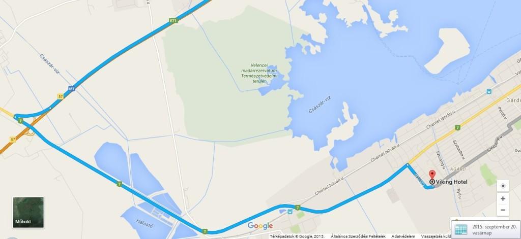 térkép a hotelhez